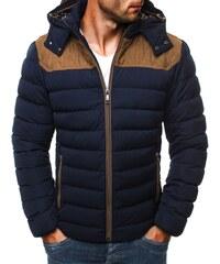 Modrá pánská bunda s prošíváním J.STYLE 3089