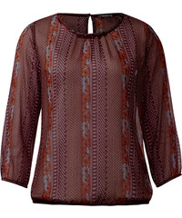 Street One - Blouse en mousseline Jamila - night plum