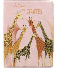 Disaster Designs růžový obal na iPad Air/iPad 5 Collective Noun Giraffe