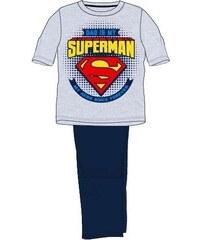 E plus M Chlapecké pyžamo Superman - šedo-modré