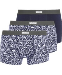 Pier One 3 PACK Shorty white/blue