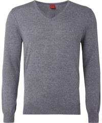 Olymp Level 5 Body Fit Pullover aus Schurwoll-Seide-Mix