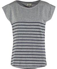 Forvert NEWPORT Tshirt imprimé grey melange/navy