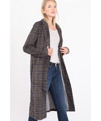 Esprit Kostkovaný kabát se střižní vlnou