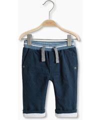 Esprit Pantalon en coton doublé, taille côtelée