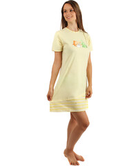 TopMode Noční košilka s obrázkem rybiček žlutá