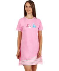 TopMode Noční košilka s obrázkem rybiček růžová