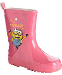 Minions Regenstiefel pink in Größe 25/26 für Mädchen