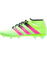 adidas Performance ACE 16.2 PRIMEMESH FG/AG Chaussures de foot à crampons solar green/shock pink/core black