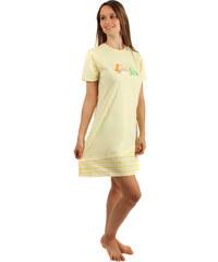YooY Noční košilka s obrázkem rybiček žlutá