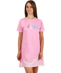 YooY Noční košilka s obrázkem rybiček růžová