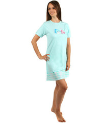 YooY Noční košilka s obrázkem rybiček modrá