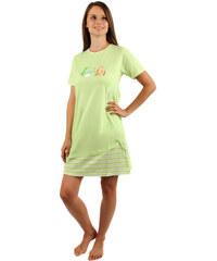 YooY Noční košilka s obrázkem rybiček zelená