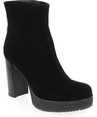 Boots Femme Unisa en Cuir velours Noir