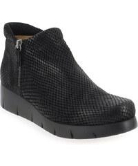 Boots Femme Unisa en Cuir Noir