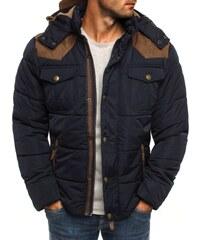 Teplá sportovní zimní bunda tmavě modrá J.STYLE 3091