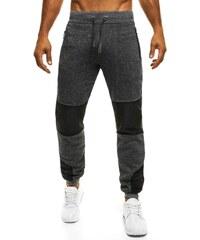 Tmavě šedé pánské sportovní kalhoty STREET STAR 77016