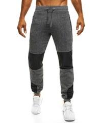 Moderní sportovní pánské tmavě šedé kalhoty STREET STAR 77016