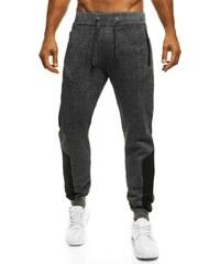 Teplákové stylové pohodlné tmavě šedé joggery STREET STAR 77018