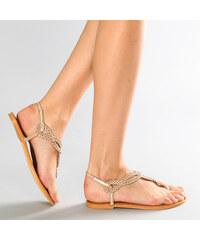 Lesara Zehentrenner-Sandale mit Flecht-Riemen - 35