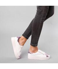 Lesara Plateau-Sneaker mit Metallic-Partien - 35
