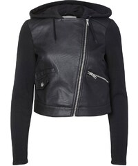 Noisy May Veste en similicuir black