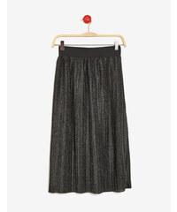 jupe longue brillante noire et argentée Jennyfer