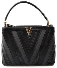 Menší sytě černá netradiční kabelka do ruky Tini Bellasi 9639