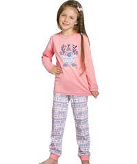 Taro Dívčí pyžamo Elza růžové skřítek