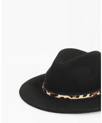 Chapeau fedora léopard noir, Femme, Taille M -PIMKIE- MODE FEMME