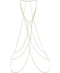New Look Chaîne de corps dorée croisée