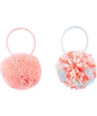 New Look Lot de 2 élastiques pour cheveux à pompons roses et bleues