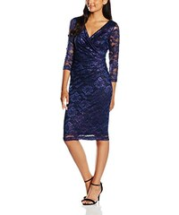 Gina Bacconi Damen Kleid Stretch Lace with Pink Metallic
