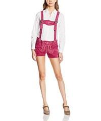 Gaudi-Leathers Damen Trachten Lederhose Shorts kurz mit Träger in verschiedenen Farben