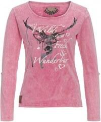 Distler Damen Shirt Longsleeve figurnah aus Baumwolle