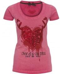Distler Damen T-Shirt figurnah rot aus Baumwolle