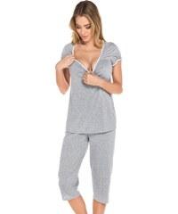 Italian Fashion Dámské pyžamo Montana šedo růžové