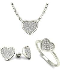 Eppi Diamantová kolekce ve tvaru srdce Fia