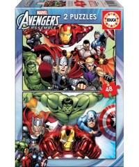 Borras Avengers - Lot de 2 puzzle 48 pièces - multicolore