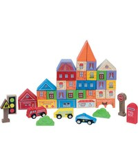 First Learning Ville - Blocs en bois - multicolore