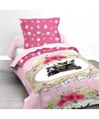 Ifilhome Lady - Parure de lit 2 pièces - rose
