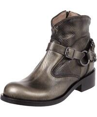 Marc Cain Bags & Shoes Booties aus echtem Leder in Metallicoptik