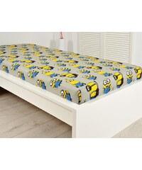 Jerry Fabrics JerryFabricsBavlněné prostěradlo 90x200 s gumou - Minions 108