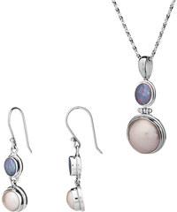 Buka Jewelry Buka Perlový set Opál (náušnice, přívěsek, řetízek) 885
