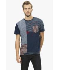 Desigual pruhované pánské triko J-Stripes