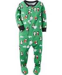 Carter's Chlapecký overal s tučňáky - zelený