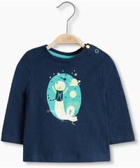 Esprit Bavlněné tričko s dlouhým rukávem
