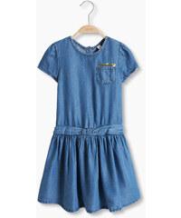 Esprit Lehké denimové šaty s pajetkovým pásem