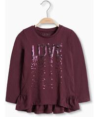 Esprit Tričko, dlouhý rukáv, směs bavlny s flitry