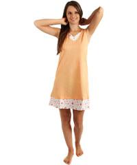 YooY Noční košilka s ozdobným lemem oranžová